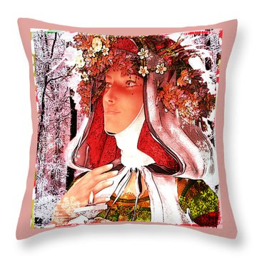 Saint Rose Of Lima Noel Throw Pillow