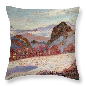 Saint Sauves D'auvergne Throw Pillow by Jean Baptiste Armand Guillaumin
