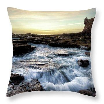 Throw Pillow featuring the photograph Saint Sebastian Castle Cadiz Spain by Pablo Avanzini