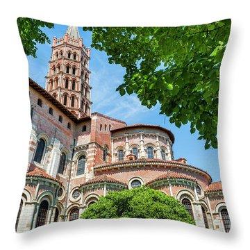 Saint Sernin Basilica Throw Pillow