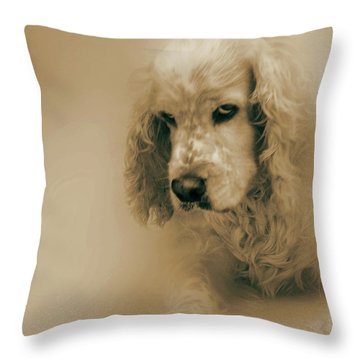 Saint Shaggy Art 6 Throw Pillow