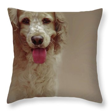 Saint Shaggy Portrait 30 Throw Pillow