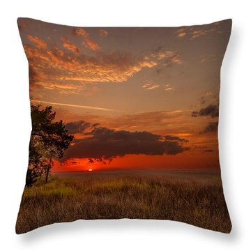 Saint Simons Island Salt Marsh Twilight Throw Pillow