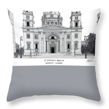 Saint Stephens Basilica Throw Pillow by Frederic Kohli