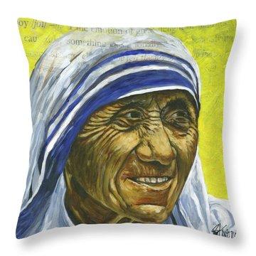 Saint Teresa Throw Pillow