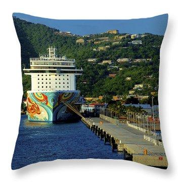 Saint Thomas Getaway Throw Pillow