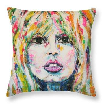 Saint Tropez Babe Throw Pillow