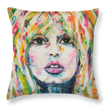 Saint Tropez Babe Throw Pillow