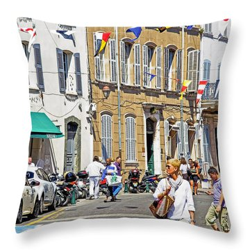 Saint Tropez Moment Throw Pillow by Keith Armstrong
