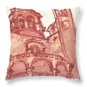Throw Pillow featuring the painting Saint Veran Cavaillon by Martin Stankewitz
