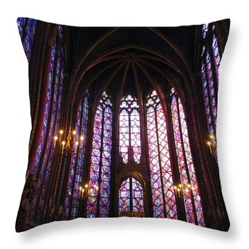 Throw Pillow featuring the photograph Sainte-chapelle by Christopher Kirby