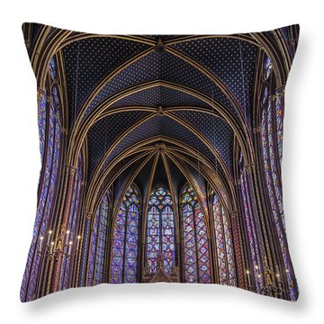 Sainte Chapelle Stained Glass Paris Throw Pillow