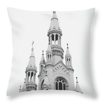 Saints Peter And Paul Church 1- By Linda Woods Throw Pillow