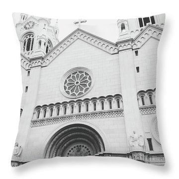 Saints Peter And Paul Church 2-  By Linda Woods Throw Pillow