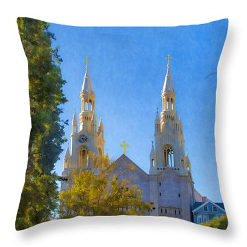 Saints Peter And Paul Church Throw Pillow