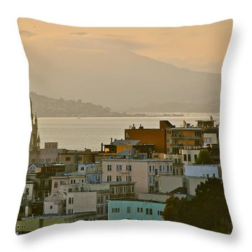 Saints Peter And Paul Spires Throw Pillow by Eric Tressler