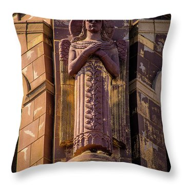 Throw Pillow featuring the photograph Saints Watch Over Us by Onyonet  Photo Studios