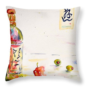 Sake Throw Pillow