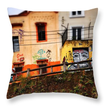 Saks Throw Pillow by Skip Hunt