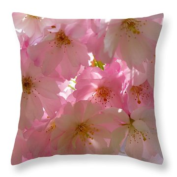 Sakura - Japanese Cherry Blossom Throw Pillow