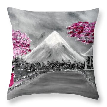 Sakura - Japanese Dreams Throw Pillow