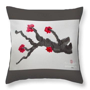 Sakura No Jikan II Throw Pillow
