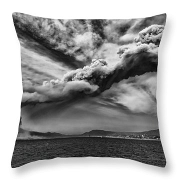 Sakurajima Volcano Throw Pillow