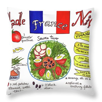 Salade Nicoise Throw Pillow