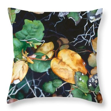Salal Throw Pillow