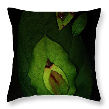 Salal Leaves Throw Pillow