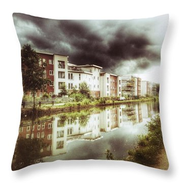 Throw Pillow featuring the photograph Sale Canal by Isabella F Abbie Shores FRSA