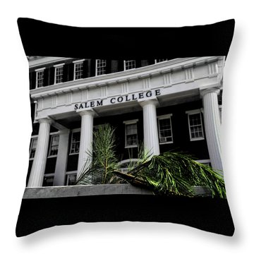 Throw Pillow featuring the photograph Salem College by Jessica Brawley