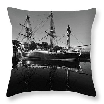 Salem Friendship Reflection Black And White Throw Pillow