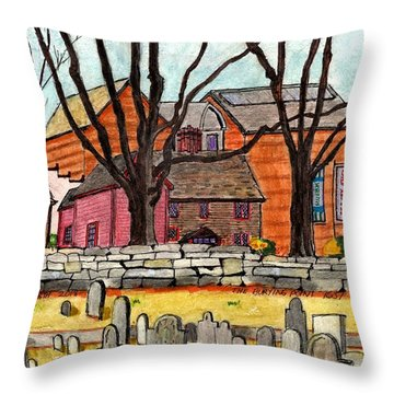 Salem The Buring Point Throw Pillow
