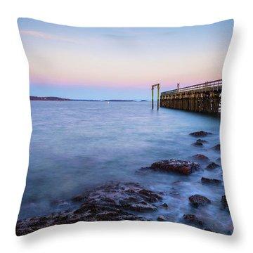 Salem Willows Sunset Throw Pillow