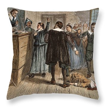 Salem Witch Trials, 1692 Throw Pillow by Granger