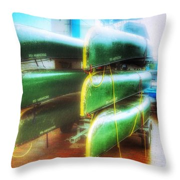 Throw Pillow featuring the photograph Salford Quays Boats by Isabella F Abbie Shores FRSA