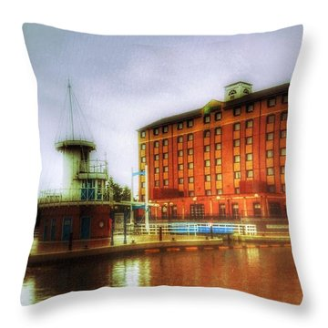 Throw Pillow featuring the photograph Salford Quays Edge by Isabella F Abbie Shores FRSA