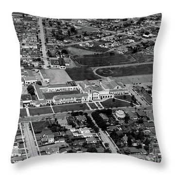 Salinas High School 726 S. Main Street, Salinas Circa 1950 Throw Pillow