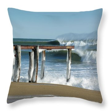 Throw Pillow featuring the photograph Salisbury Winter Storm by Betty Denise