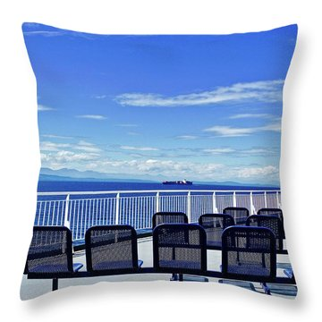 Salish Sea Symphony Throw Pillow