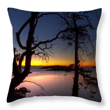 Salish Sunrise Throw Pillow by Randy Hall