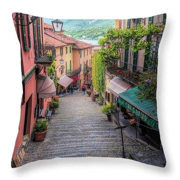 Salita Serbelloni Bellagio Italy Throw Pillow