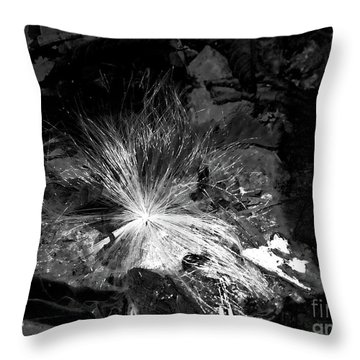 Salix Seed Throw Pillow