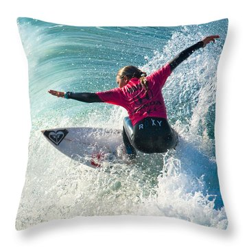 Sally Fitzgibbons Throw Pillow