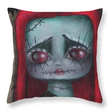 Sally Girl Throw Pillow by Abril Andrade Griffith