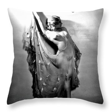 Sally Rand (1904-1979) Throw Pillow by Granger