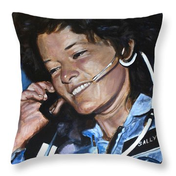 Sally Ride Throw Pillow