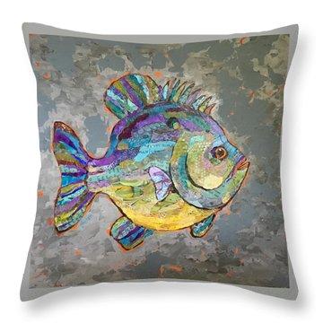 Sally Sunfish Throw Pillow