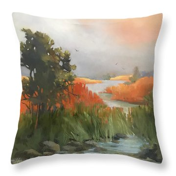 Salmon Creek Throw Pillow